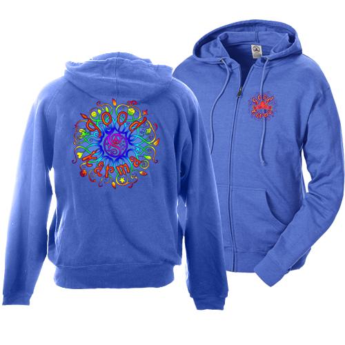Peace Frogs Good Karma Full Zip French Terry Hood Adult Sweatshirt