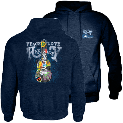 Peace Frogs Guitar Case Garment Dye Hood Pullover Sweatshirt