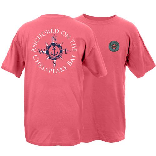 Chesapeake Tides Adult Anchored at the Bay Garment Dye Short Sleeve T-Shirt