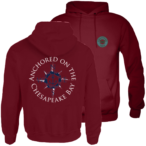 Chesapeake Tides Adult Anchored Hood Pullover Sweatshirt