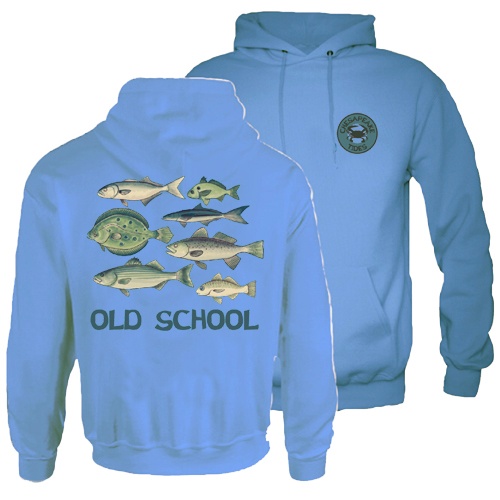 Chesapeake Tides Adult Old School Hood Pullover Sweatshirt