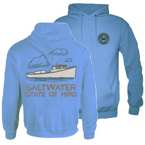 Chesapeake Tides Adult State of Mind Hood Pullover Sweatshirt