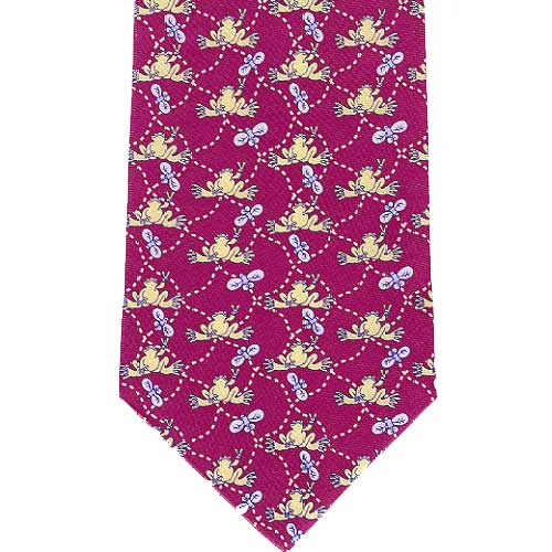 Peace Frogs Fly Frog Necktie