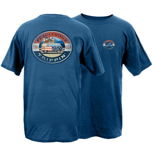 Peace Frogs Road Trippin Garment Dye Short Sleeve T-Shirt