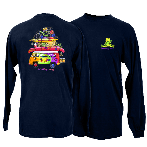 Peace Frogs Loaded Van Adult Long Sleeve T-Shirt