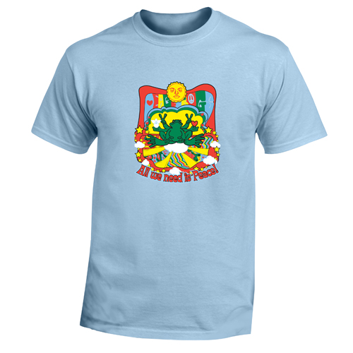 Peace Frogs Adult All We Need Is Peace Short Sleeve T-Shirt