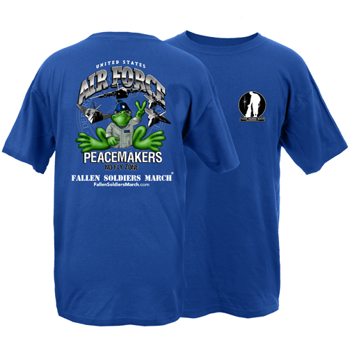 Fallen Soldiers March US Air Force Frog Adult Short Sleeve T-Shirt