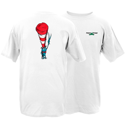 Peace Frogs Adult Frog in a Hat Short Sleeve T-Shirt