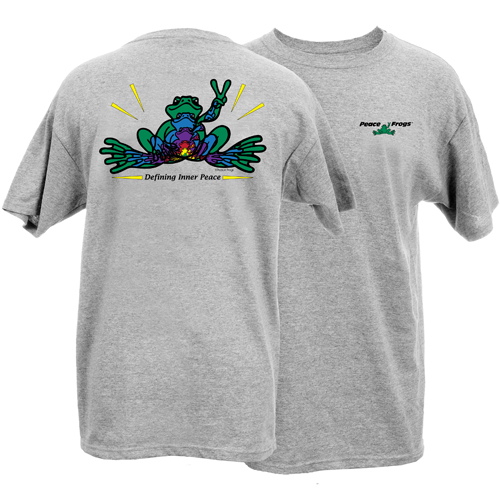 Peace Frogs Adult Inner Peace Frog Short Sleeve T-Shirt