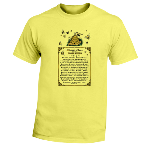Beyond The Pond Adult Bee Poem Short Sleeve T-Shirt