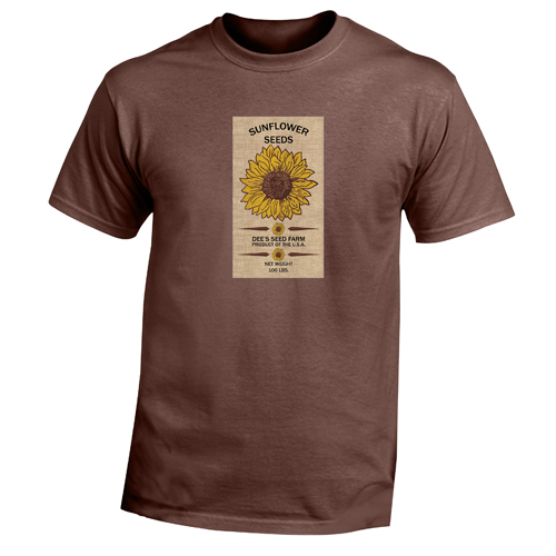 Beyond The Pond Adult Sunflowers Short Sleeve T-Shirt