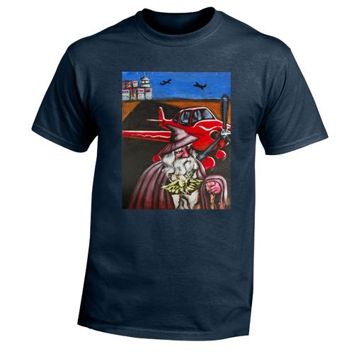 Beyond The Pond Adult Pilot Wizard Short Sleeve T-Shirt