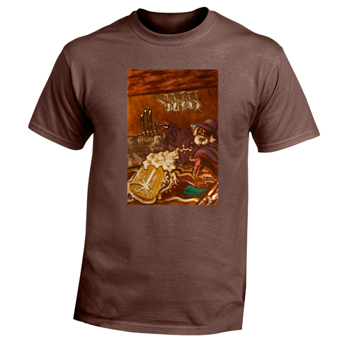 Beyond The Pond Adult Bartender Wizard Short Sleeve T-Shirt
