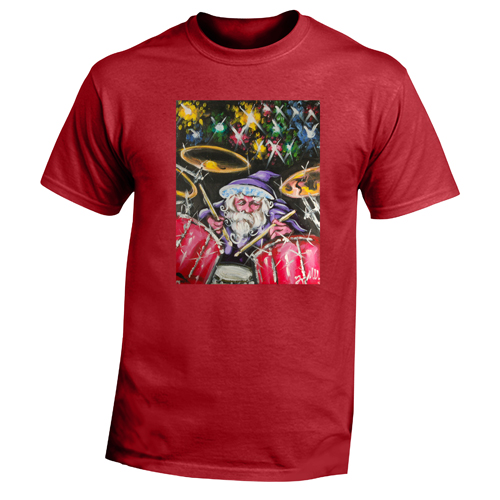 Beyond The Pond Adult Drummer Wizard Short Sleeve T-Shirt