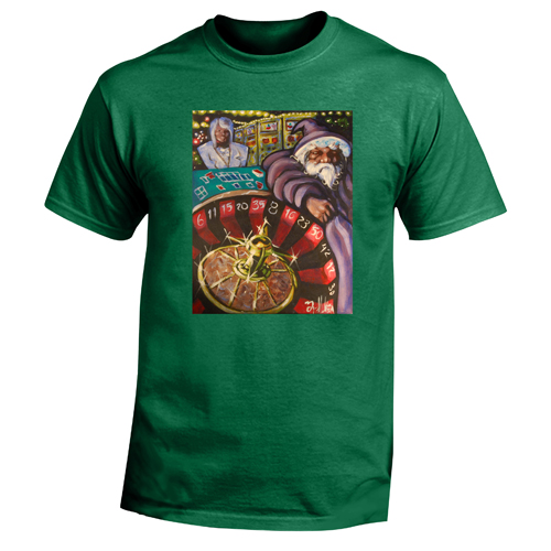 Beyond The Pond Adult Gambler Wizard Short Sleeve T-Shirt
