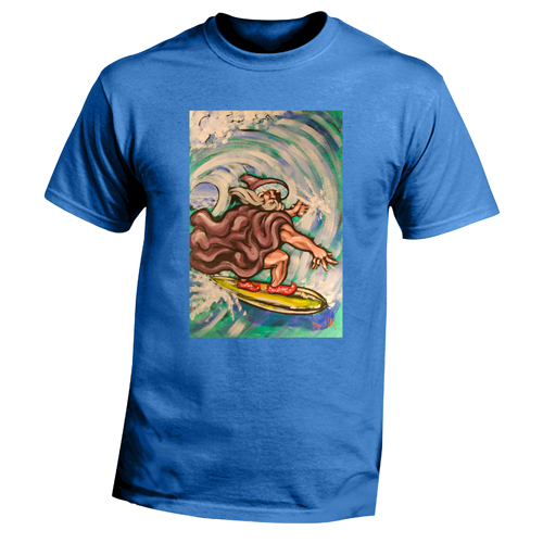 Beyond The Pond Adult Surfer Wizard Short Sleeve T-Shirt