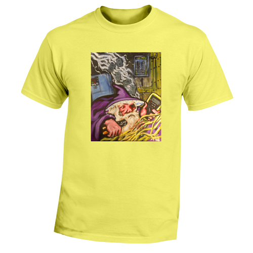 Beyond The Pond Adult Electrician Wizard Short Sleeve T-Shirt