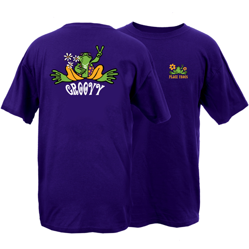 Peace Frogs Groovy Frog Short Sleeve T-Shirt