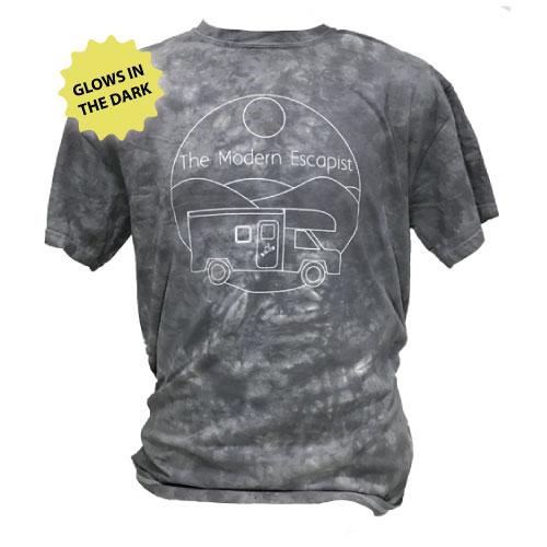 Peace Frogs The Modern Escapist Glow Frog Tye Dye Short Sleeve T-Shirt
