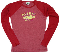 Peace Frogs Junior Hibiscus Heathered Long Sleeve T-Shirt