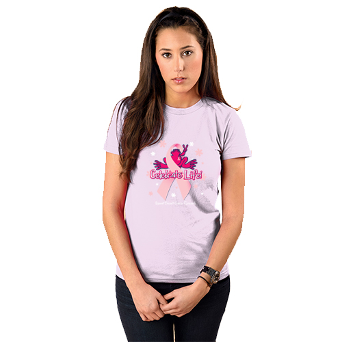 Peace Frogs Ladies Celebrate Life Short Sleeve T-Shirt