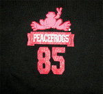 Peace Frogs Junior Freshman Issue Football Long Sleeve T-Shirt