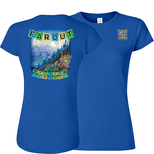 Peace Frogs Ladies Far Out Frog Short Sleeve T-Shirt