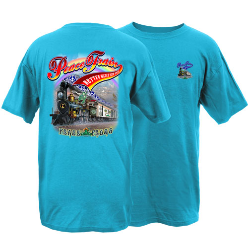 Peace Frogs Adult Peace Train Short Sleeve T-Shirt