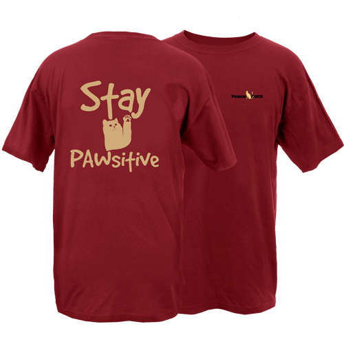 Stay Pawsitive Cat Peace Dogs Short Sleeve T-Shirt