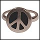 Peace Frogs Color Peace Sign Adjustable Ring