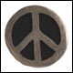 Peace Frogs Color Peace Sign Pin