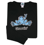 Peace Frogs Junior Groovin Frog Long Sleeve T-Shirt