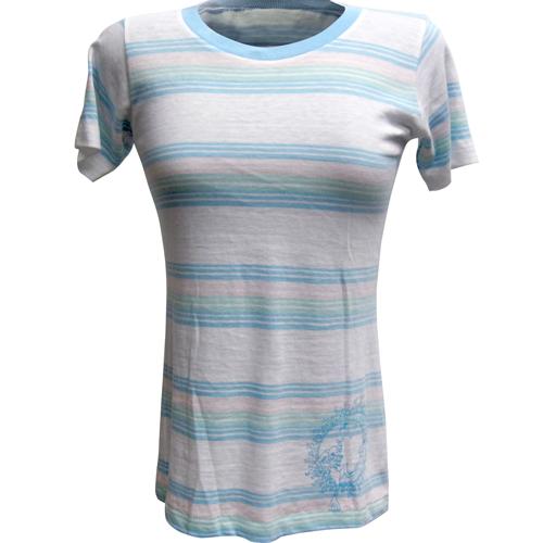 Peace Frogs Junior Cosmic Stripe Short Sleeve T-Shirt