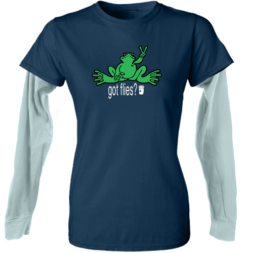 Peace Frogs Junior Milk Frog Double Layer Long Sleeve T-Shirt