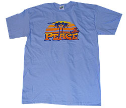 Peace Frogs Adult Retro Sunset Short Sleeve T-Shirt