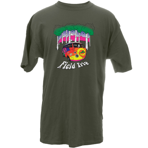 Peace Frogs Adult Field Trip Van Short Sleeve T-Shirt