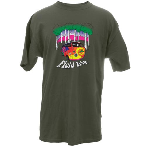 Peace Frogs Adult Field Trip Van Short Sleeve T-Shirt
