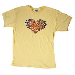 Peace Frogs Adult Tonal Heart Short Sleeve T-Shirt