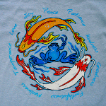 Peace Frogs Adult Koi Peace Short Sleeve T-Shirt