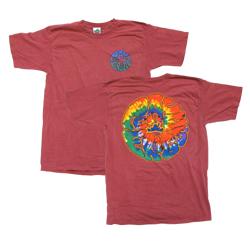 Peace Frogs Adult Tie Dye Bubble Garment Dye Short Sleeve T-Shirt