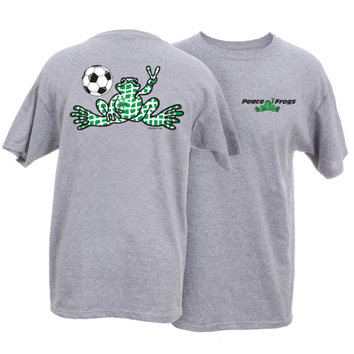 Peace Frogs Adult Granite Soccer Net Short Sleeve T-Shirt