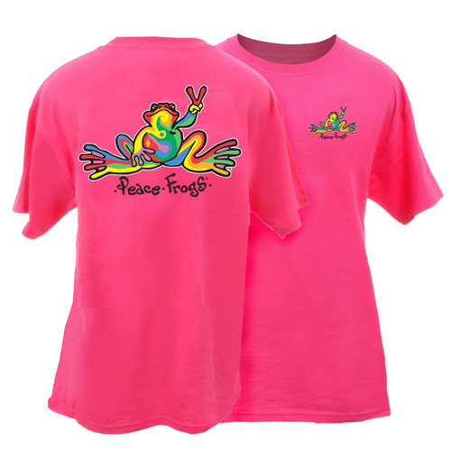 Peace Frogs Adult Retro Garment Dye Short Sleeve T-Shirt