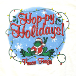 Peace Frogs Hoppy Holiday Short Sleeve T-Shirt