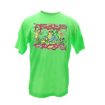 Peace Frogs Adult Graffitti Short Sleeve T-Shirt