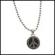 "Peace Frogs Small Color Peace Sign On 18"" Chain"