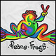 Peace Frogs Adult Retro Short Sleeve T-Shirt
