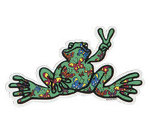 Peace Frogs Butterfly Fill Sticker