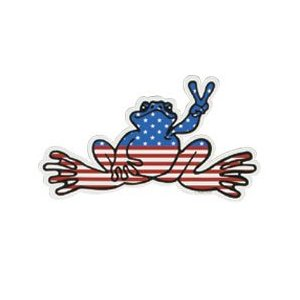 Peace Frogs Sm American Sticker