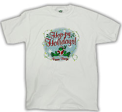 Peace Frogs Adult Hoppy Holidays Short Sleeve T-Shirt