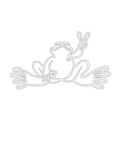 Peace Frogs Lg Outline Sticker